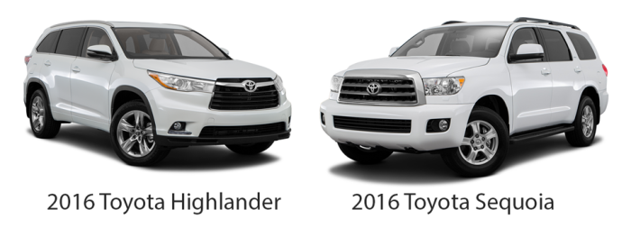 2016-Highlander-vs-2016-Sequoia